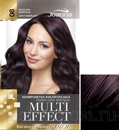 """оттеночный шампунь Joanna """"Multi Effect Color"""" 8 оттенок """"Сочный баклажан"""""""