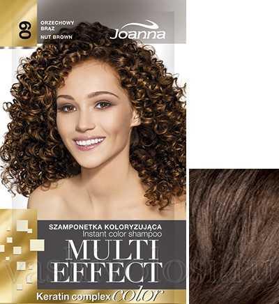 """оттеночный шампунь Joanna """"Multi Effect Color"""" 9 оттенок """"Ореховый коричневый"""""""
