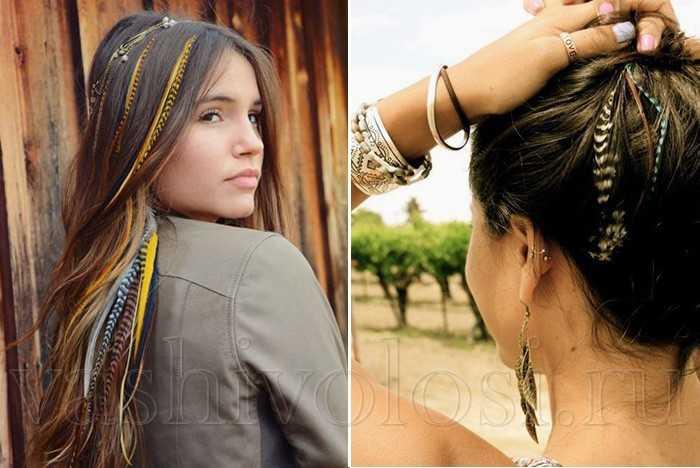Перья гризли для волос