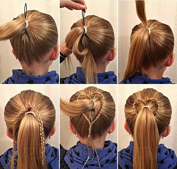 Петля для волос - сердечко из волос