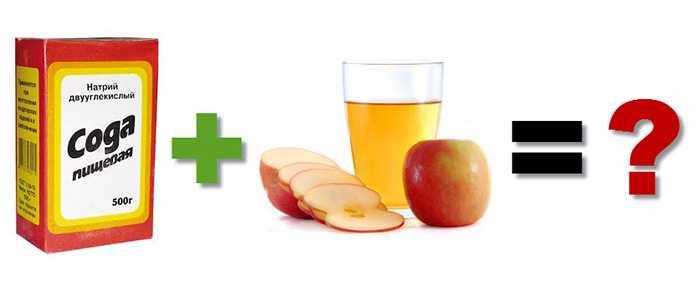 Пищевая сода и яблочный уксус для улучшения состояния волос