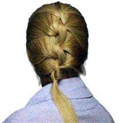 Плетение кос узлами