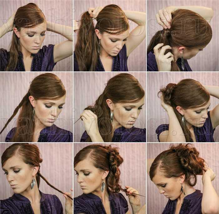 Вечерние Прически На Длинные Волосы Своими Руками Пошаговая Инструкция Фото - фото 6