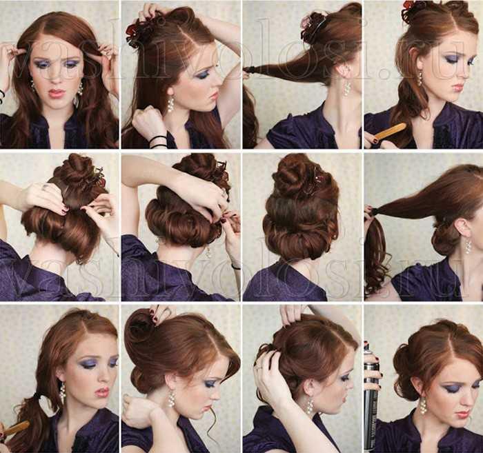Прическа на средние волосы своими руками пошаговая инструкция для ребенка