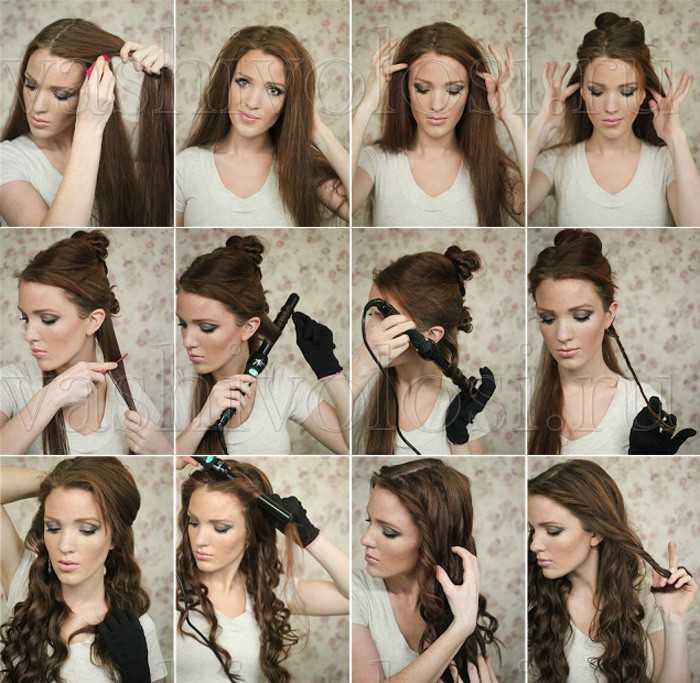 Причёски с локонами в домашних условиях своими руками 3
