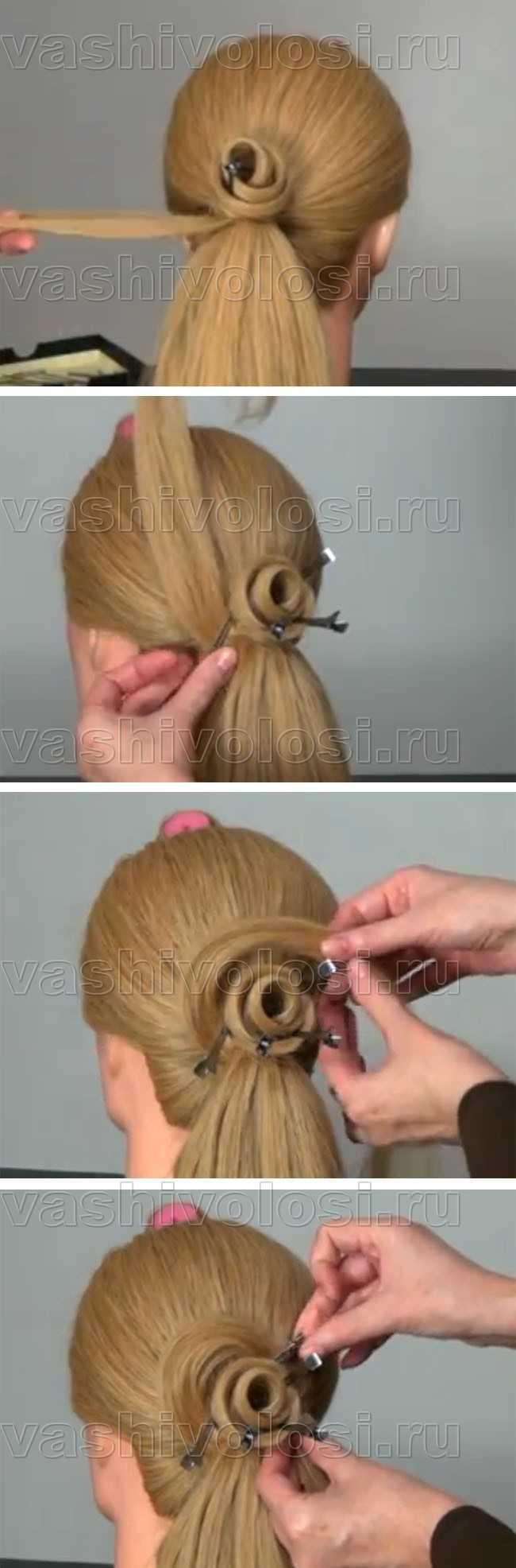 Как сделать из волос прически фото поэтапно
