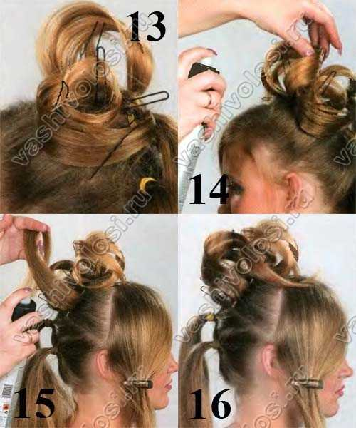 Прическа с цветами на длинные волосы