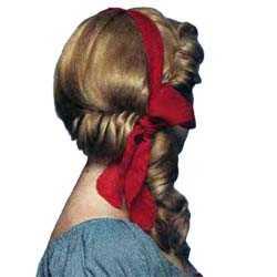 Прическа с лентой вокруг головы