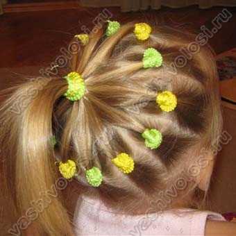 детские причёски с резинками фото