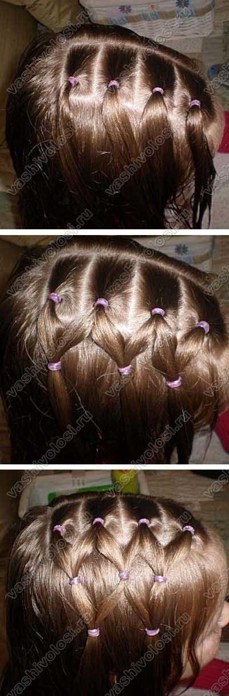 Как из волос сделать сеточку 944