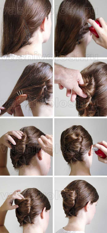 Как сделать прически с валиком для волос 86