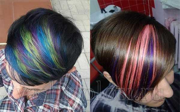 Фото окрашивания волос пигментами Эстель двух оттенков