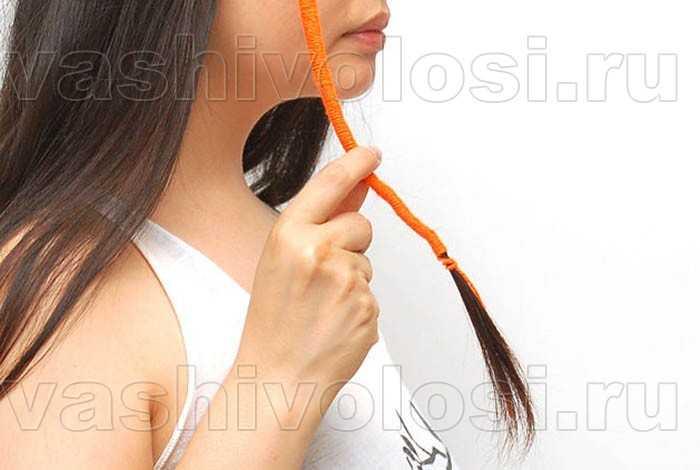 Расточки на волосах