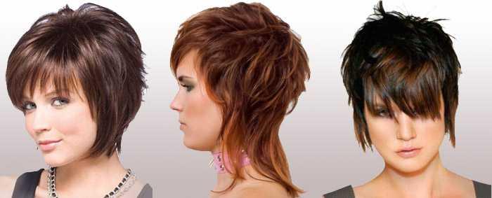 Каскад с короткой макушкой на средние волосы фото