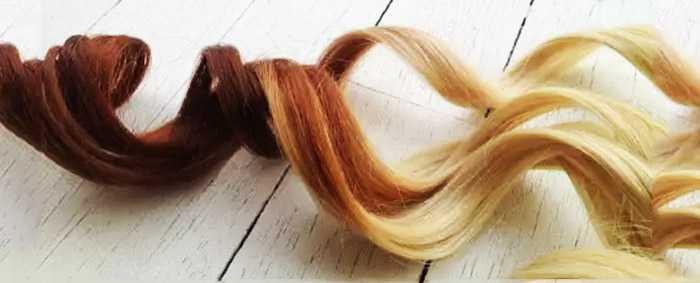 Темные кончики волос