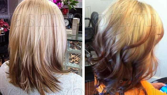 Волосы светлые кончики темные волосы