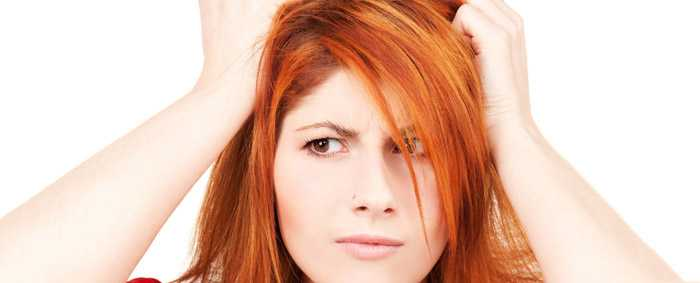Выпадение жирных волос