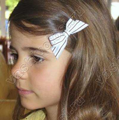 Заколки для волос из лент